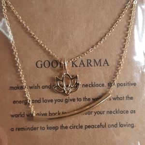 Jewelry - GOOD KARMA gold alloy clavicle necklace